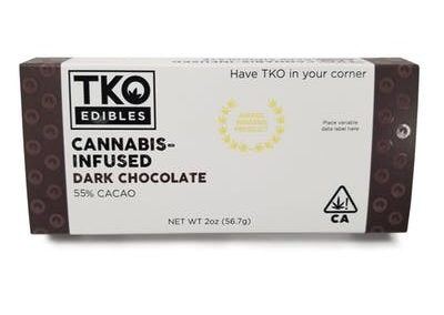 TKO Edibles Dark Chocolate Bar